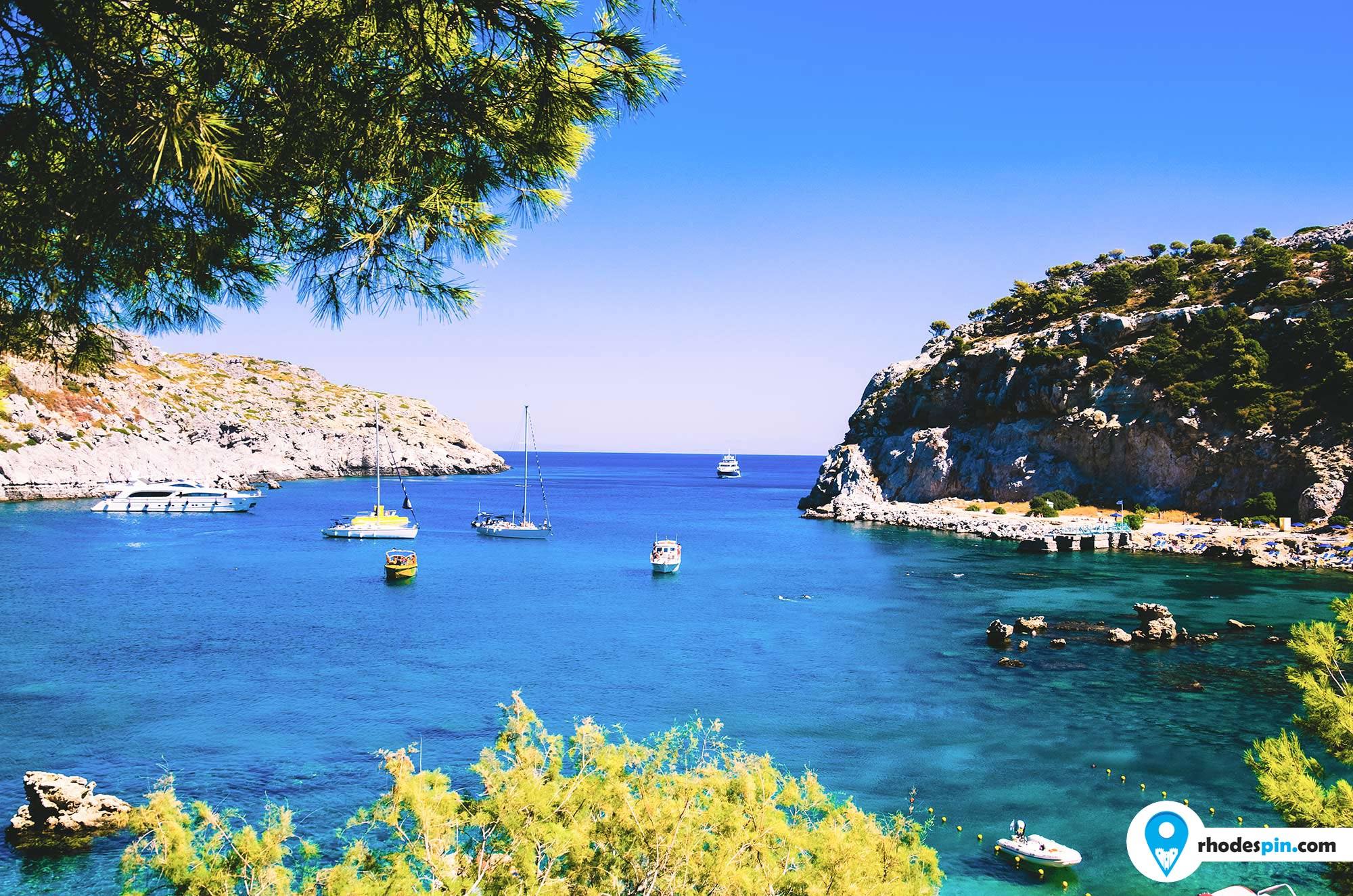Anthony Quinn beach Rhodes island