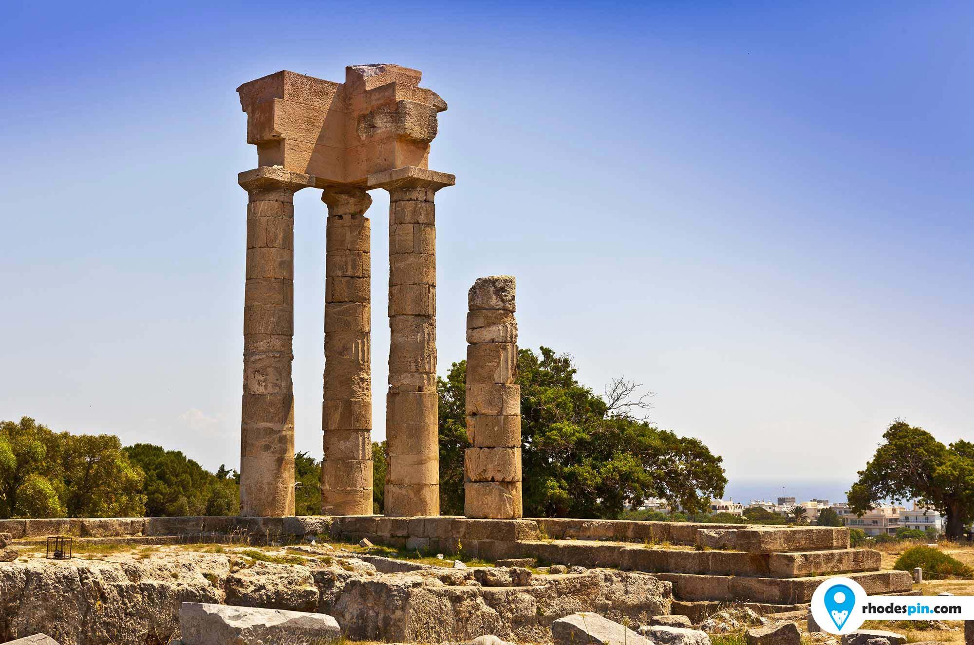 Acropolis of Rhodes Rhodes island