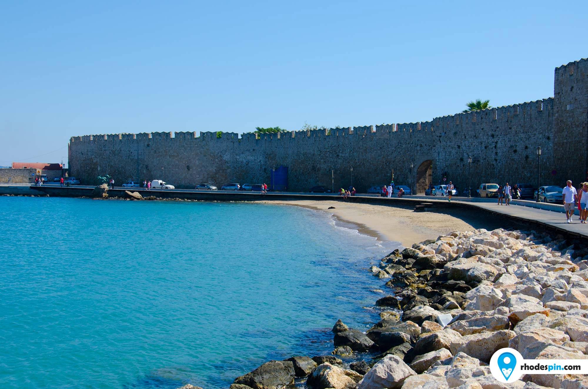 Old town beach Rhodes Island