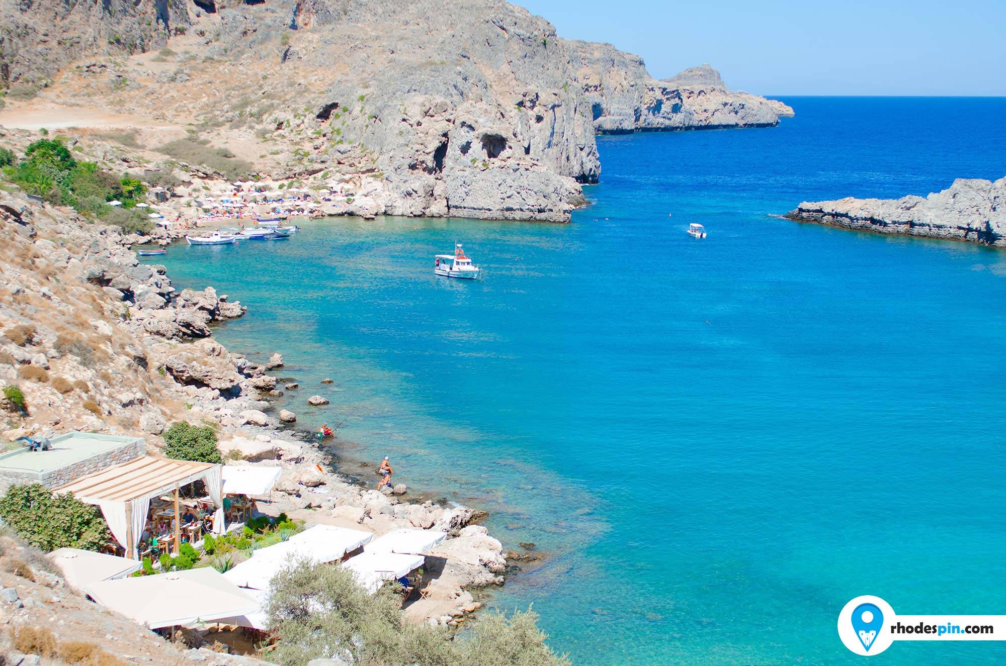 Saint Pauls beach Lindos Rhodes Island