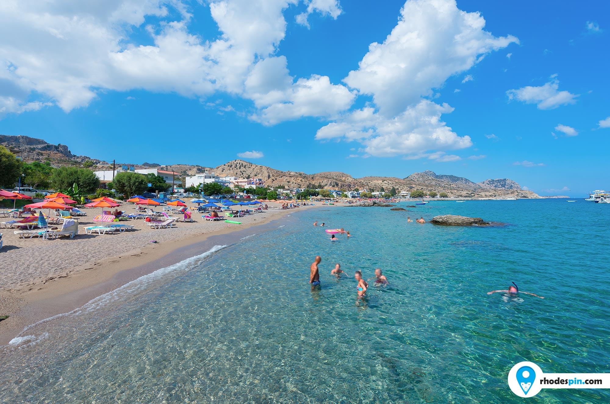 Stegna beach Rhodes Island