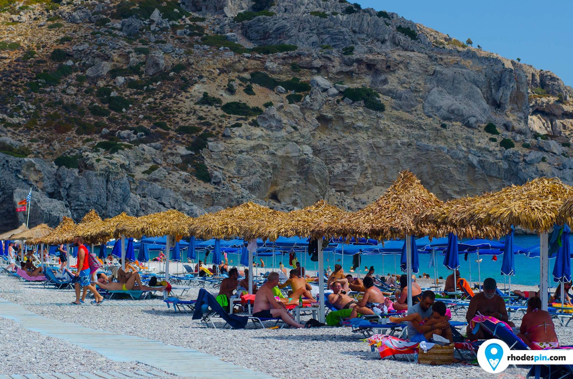 Traounou Traganou beach Rhodes island