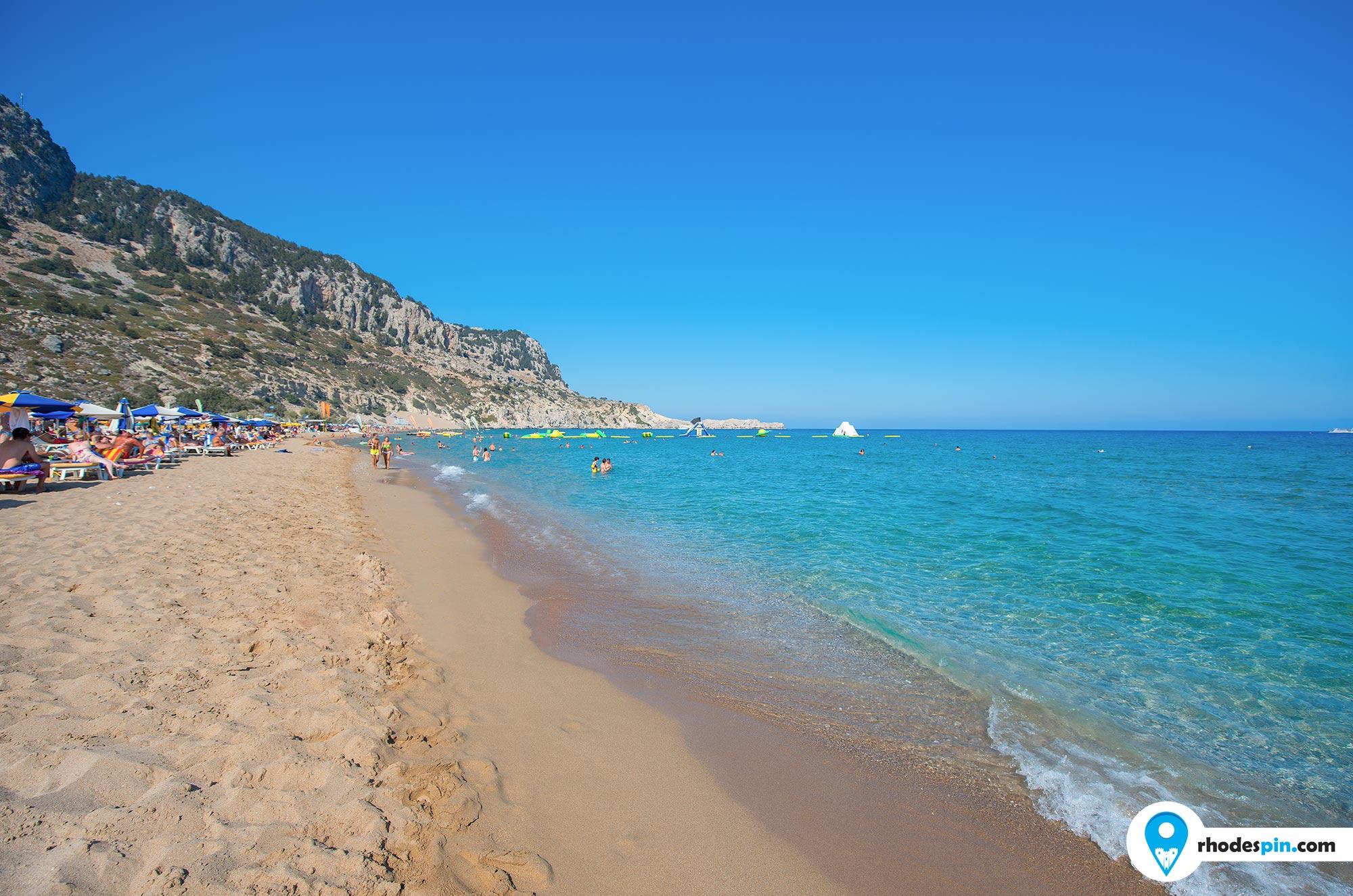 Tsambika beach Rhodes Island