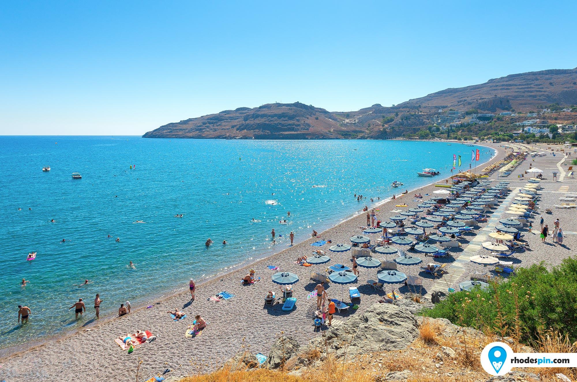 Vlicha beach Rhodes Island